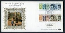 Great Britain 60th Birthday of HM Queen Elisabeth 2nd  silk first day cover #23