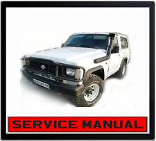 Nissan Patrol Safari GQ Y60 1988-1998 SERVICE REPAIR MANUAL IN DVD