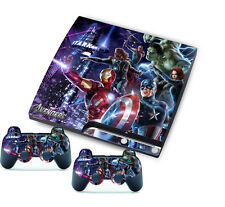 New for PlayStation 3 PS3 Slim + 2 Controller Skins Awsome Custom Stickers Skins
