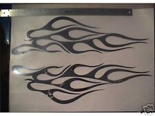 CHROME TRIBAL FLAME DECALS STICKERS GRAPHICS 27 INCH