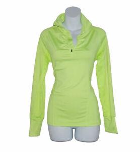 90 DEGREE BY REFLEX Yellow Neon 1/4 Zip Athletic Yoga Running Jacket (size M)