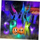 8ft White Ghost Family with Spooky Sign LED Blow Up Lighted Decor Indoor