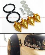 Gold Aluminum JDM Spiked Bumper Fender Quick Release Fasteners Latch For Honda