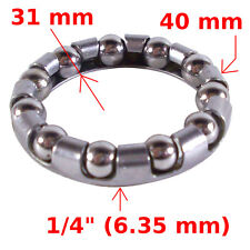 "BIKE BALL BEARING CAGED BOTTOM BRACKET 1/4"" BEARINGS RETAINER CRANK 11 BALLS"