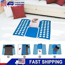 Adult Magic Clothes Shirt Folding Plastic Laundry Fast Folders Board Organizer