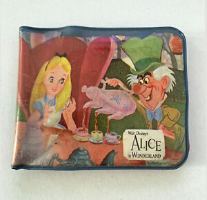 Disney Alice in Wonderland Vinyl Wallet circa 1960s