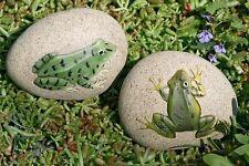 2er Set Frosch als Briefbeschwerer, Frosch auf Stein