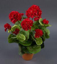 Geranie 36cm rot -ohne Topf- LM künstliche Blumen Kunstpflanzen Kunstblumen