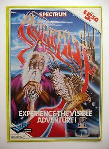 vintage game advert zx spectrum ALCHEMIST game amstrad game commodore 64 game