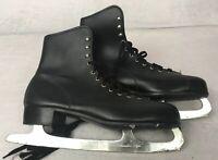 Men's Black Figure Ice Skates with SLM Canada Blades Size 11 Excellent Condition