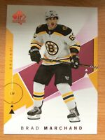 UPPER DECK SP AUTHENTIC 2018-2019 RED PARALLEL BRAD MARCHAND HOCKEY CARD 89