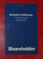 One (1)  2018 BERKSHIRE HATHAWAY SHAREHOLDER MEETING CREDENTIAL