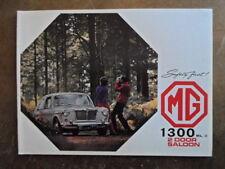 Mg 1300 MK II Sedán Orig 1968 1969 Reino Unido Mkt folleto de ventas-Mark 2