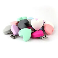 Silicone Heart Pacifier Chain Baby Teething Soother Dummy Clips Holder Toys Make