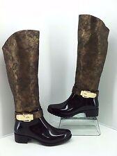 LADY GODIVA Bronze Side Zip Waterproof Rain Boots Size 6