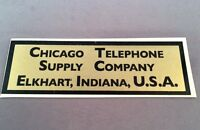 Antique Telephone Water Decal - Chicago Telephone Supply Company - SKU - 23734