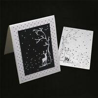 Stanzschablone Elch Baum Schnee Weihnachten Hochzeit Geburtstag Album Karte DIY