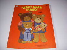 Teddy Bear Family Paper Dolls, A Whitman Book, 1980, New, Uncut!