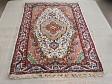 Vintage Carpet Rug Wool Hand Knotted