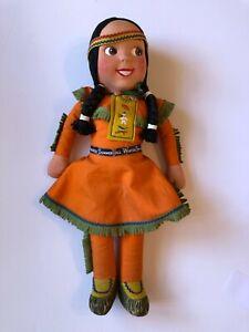 "Howdy Doody Princess Summerfall-Winterspring Doll 17"" Rare Vintage 1950s"