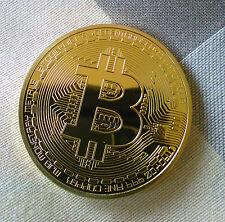 BITCOIN Münze - Medaille - NEW 1 oz 999 Kupfer Copper vergoldet 999 GOLDEN