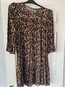 Primark Floral Smock Dress With Shoulder Pads Size 20
