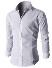 Men's Casual Slim Fit Shirts Long Sleeve Dress Shirt PS01