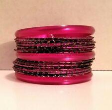 Bracelets Bangles purple plastic 15 piece Fashion Jewelry. Beautiful set