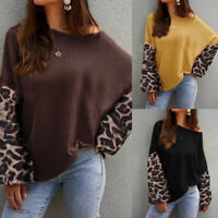 Women's Baggy Knitted Oversized Sweater Jumper Ladies Tunic Pullover Tops Blouse
