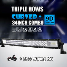 """34""""INCH 1944W CREE TRI ROW LED Light Bar Curved Work Offroad 4WD Driving 30/32"""""""