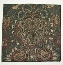 "(8) Paisley Napkins ~ Brown Black Tan Blue ~ 16"" x 17"""