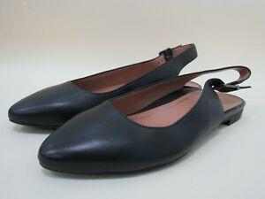 Vionic Jade Women's Black Leather Slingback Sandals Size 6