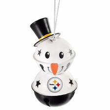 Pittsburgh Steelers 2 Tier Snowman Bell Ornament Christmas Tree Holiday NEW