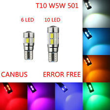 T10 LED 501 W5W CAR SIDE PARK LIGHT BULB ERROR FREE CANBUS 6SMD 10SMD LED XENON