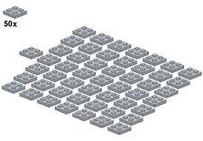 Used LEGO® - Plates - Lightbluishgray - 3022-10 - 2x2 (50Stk) - Platte - Hellgra