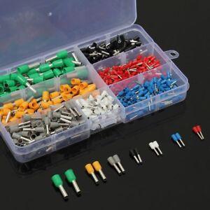 600x Aderendhülsen Set Sortiment 0.5-6mm² Aderendhülse isoliert Kabelschuhe Box
