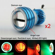 Super Bright Motorcycle LED Projector Headlight & CCFL Angel Eye + Demon Eye