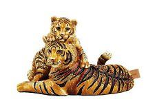JAY STRONGWATER JUNGLE CHELLE & CLARA MOM & BABY TIGER FIGURINE SWAROVSKI USA