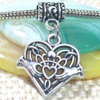 Compass/_Bead Pendant For European Charm Bracelet Necklace/_Camping Trip/_Y17