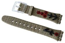 "ORIGINAL SWATCH 17mm GENT ARMBAND ""FOLKLORAL CHIC"" (AGE181) NEUWARE"