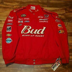 Vintage Dale Earnhardt Nascar Racing Jacket Budweiser Chase Authentics 2XL/3XL