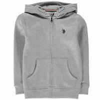 Kids US Polo Assn Zip Hoodie Long Sleeve New