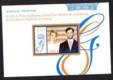 LUSSEMBURGO , 2012 Nozze Principe Guillaume e Stephanie  BF (1 f.llo)  nuovo