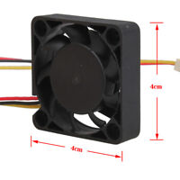 3 Pin 40mm Computer CPU Case Cooler Heat Sink Cooling Fan PC 40x40x10mm DC 12V