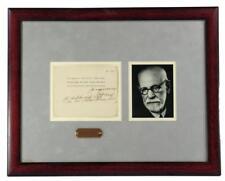 Sigmund Freud rare signed Palestine note: spectacular presentation! Lot 49