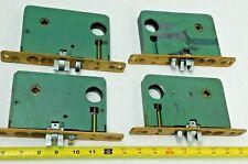 LOT OF 4! Vintage Door Lock Brass Mechanism Inside Latch w/ Buttons SEE PHOTOS!