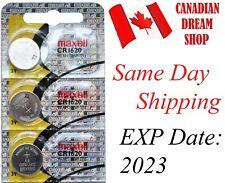 3 PC Fresh MAXELL CR1620 DL1620 3V lithium batteries battery Hologram EXP:2023