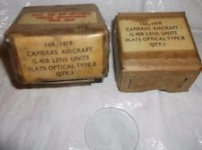 ww2 raf spitfire gun camera lenz boxes dated 1954 unused
