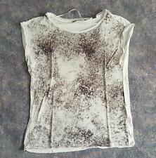 Esprit Shirt - Gr. 36 - weiß / braun