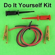 Diy Kit Red Amp Black Smd Mini Grabbers 24 Test Lead Wires Amp Mini Alligators